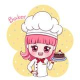 女性Baker_3 库存例证