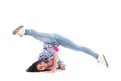女性breakdancer 免版税库存图片