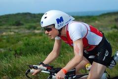 女性ironman triathlete 库存图片