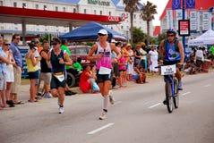 女性ironman triathlete 免版税库存图片