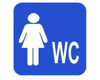 女性wc 免版税库存图片