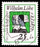 女执事姐妹,威谦廉Lohe 1808-1872,约翰威谦廉Lohe serie死亡百年lifework,大约1972年 免版税库存图片