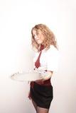 女服务员 免版税图库摄影