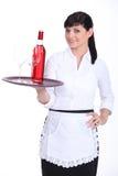 年轻女服务员 免版税图库摄影