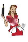 女服务员 库存图片