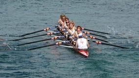 女桨手 免版税库存图片