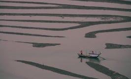 女渔翁和渔夫 免版税库存照片