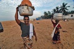 女渔翁 免版税库存图片