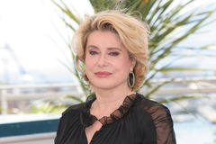 女演员凯瑟琳deneuve法语 免版税库存图片