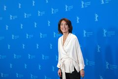 女演员在Berlinale的Leonore Ekstrand姿势2018年 库存图片