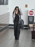 女演员机场松驰ashley的greene 免版税库存图片