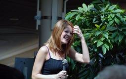 女演员证书赢取艾美金象奖的时间二 免版税库存图片