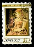 女演员Bazhenova (A画象  f Sofronov,1940)苏维埃Cul 库存照片