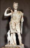 女猎人戴安娜的雕象 免版税库存图片