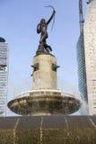 女猎人戴安娜喷泉(Fuente de la戴安娜Cazadora)在墨西哥DF,墨西哥 免版税库存照片