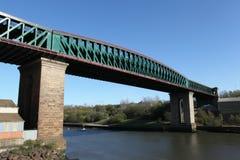 女王亚历山德拉桥梁,森德兰 免版税库存照片
