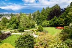 女王伊丽莎白公园在温哥华,加拿大 免版税库存图片