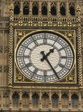 女王伊丽莎白塔在议会议院的大本钟伦敦  免版税库存照片