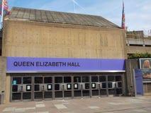 女王伊丽莎白霍尔伦敦 免版税库存照片