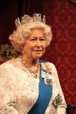 女王伊丽莎白,伦敦,英国- 2017年3月20日:英女王伊丽莎白二世2画象蜡象在博物馆,伦敦的蜡象 库存图片