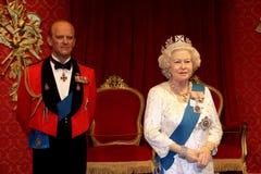 女王伊丽莎白11王子菲利普和 免版税图库摄影