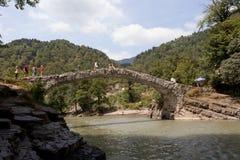 女王塔玛拉桥梁  库存照片