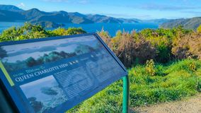 女王夏洛特声音,新西兰 免版税库存图片