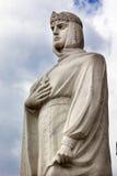 女王奥尔加雕象Mikhaylovsky广场基辅乌克兰 免版税库存照片