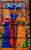 女王女性圣徒彩色玻璃中央寺院大教堂佛罗伦萨意大利 库存照片