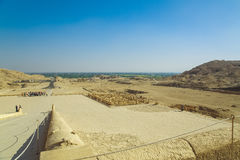 女王寺庙古老谷在卢克索 免版税库存照片