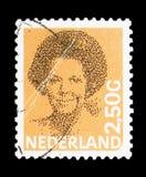 女王比阿特丽克斯,类型Struycken serie,大约1986年 免版税库存照片