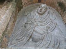 女王玛丽亚老城堡细节在巴尔奇克,保加利亚 库存图片