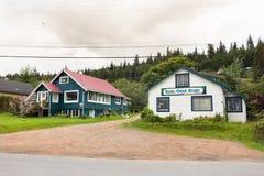女王的夏洛特伊莎贝尔小河商店, BC,加拿大 免版税图库摄影