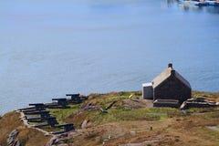 女王的火炮电池圣约翰?s纽芬兰关闭视图 库存图片