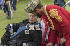 `女王维多利亚和阿卜杜勒`印地安仆人奥斯本议院 免版税图库摄影