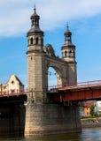 女王路易斯桥梁河 库存图片
