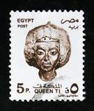女王钛、地标、标志和艺术品serie,大约1997年 免版税图库摄影