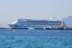 女王陛下` s游艇不列颠尼亚,车,客船,船,马达船 库存照片