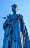 女王雕象维多利亚加拿大 免版税库存照片