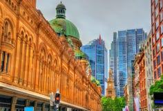女王维多利亚大厦在悉尼,澳大利亚 在1898年修造 库存图片
