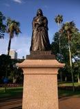 女王维多利亚雕象在阿尔伯特公园奥克兰,新西兰 库存照片