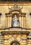 女王维多利亚雕象在巴恩镇 库存照片