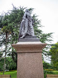 女王维多利亚雕象阿尔伯特公园的,奥克兰,新西兰 免版税库存图片