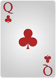 女王/王后卡片棍打啤牌 免版税库存照片