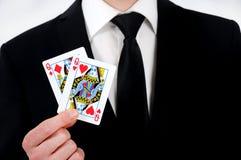 女王/王后卡片 免版税库存照片