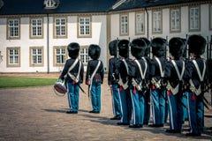 女王/王后卫兵,丹麦 免版税库存照片