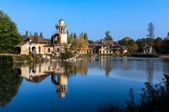女王/王后的小村庄凡尔赛宫的 库存照片