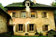 女王/王后的小村庄,凡尔赛,法国 库存图片