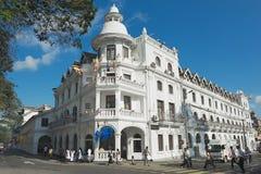 女王/王后的旅馆的历史大厦的外部在康提,斯里兰卡 免版税库存照片