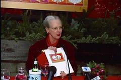 女王/王后MARGRETHE设计圣诞节邮票 图库摄影